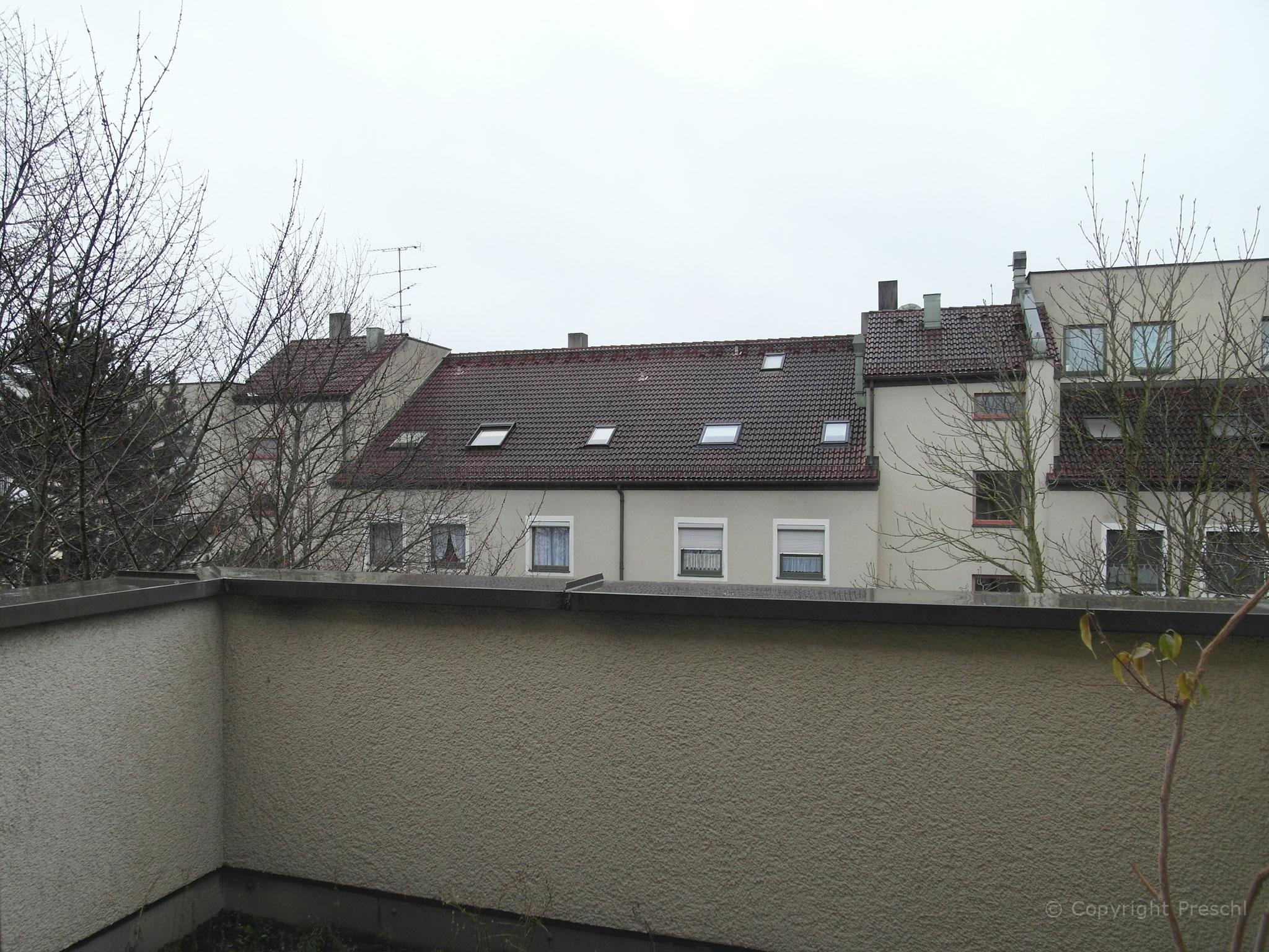 Dachterrasse im Winter