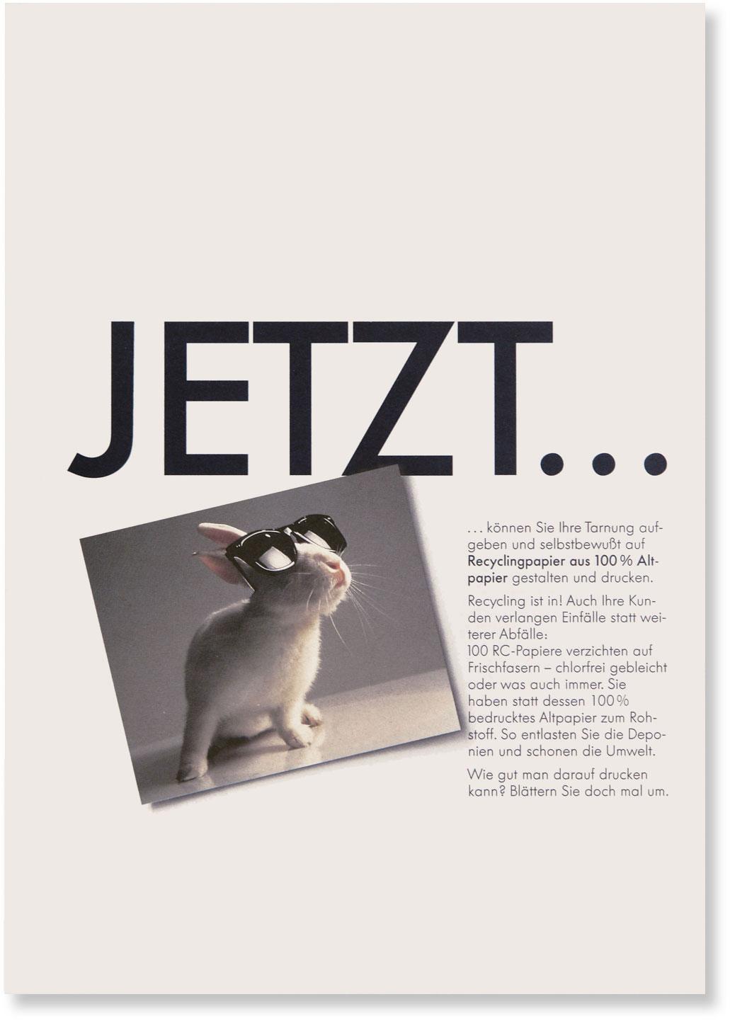 Titelseite mit Schlagwort JETZT ...