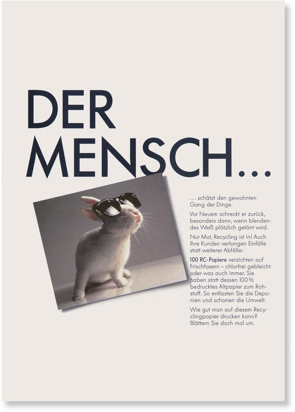 Titelseite mit Schlagwort DER MENSCH ...