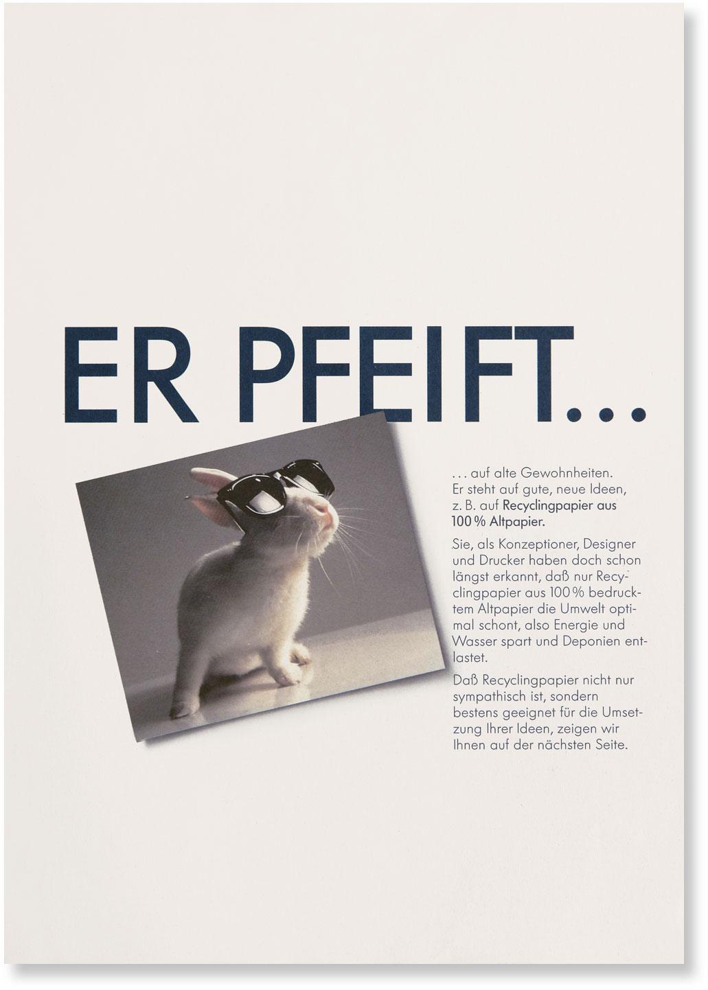 Titelseite mit Schlagwort ER PFEIFT ...